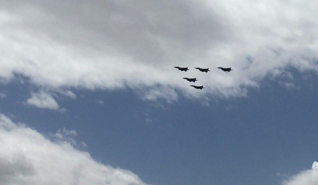 Israelische Kampfjets am Unabhängigkeitstag