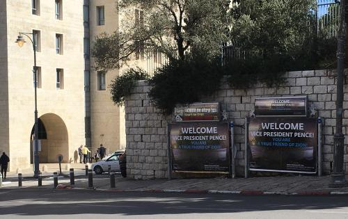 US Vice President Mike Pence is welcome in Israel
